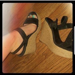 Prada Shoes - Prada Suede Wedges